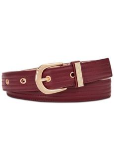 Steve Madden Trapunto Stitch Belt