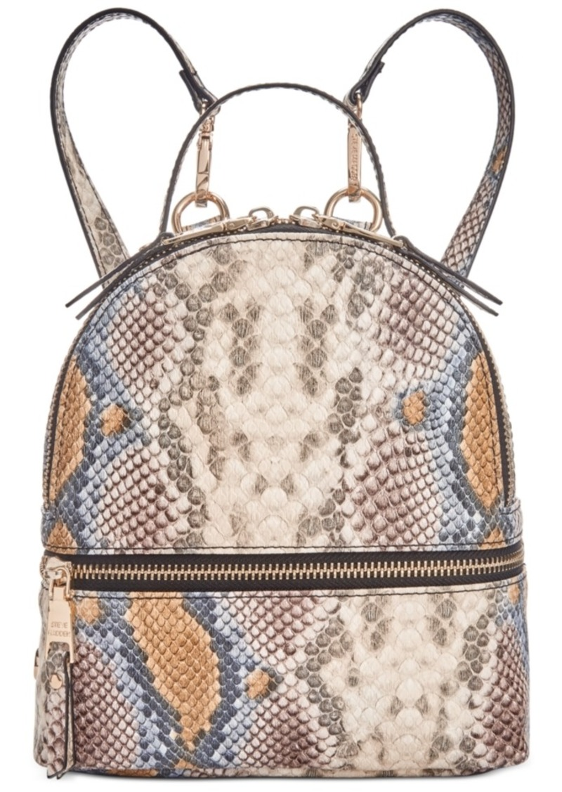 Steve Madden Trixie Snake Embossed Convertible Backpack