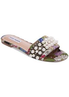 Steve Madden Vanessa Pearl-Embellished Slides
