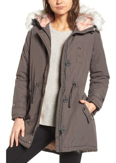 Steve Madden Water Repellent Faux Fur Lined Anorak