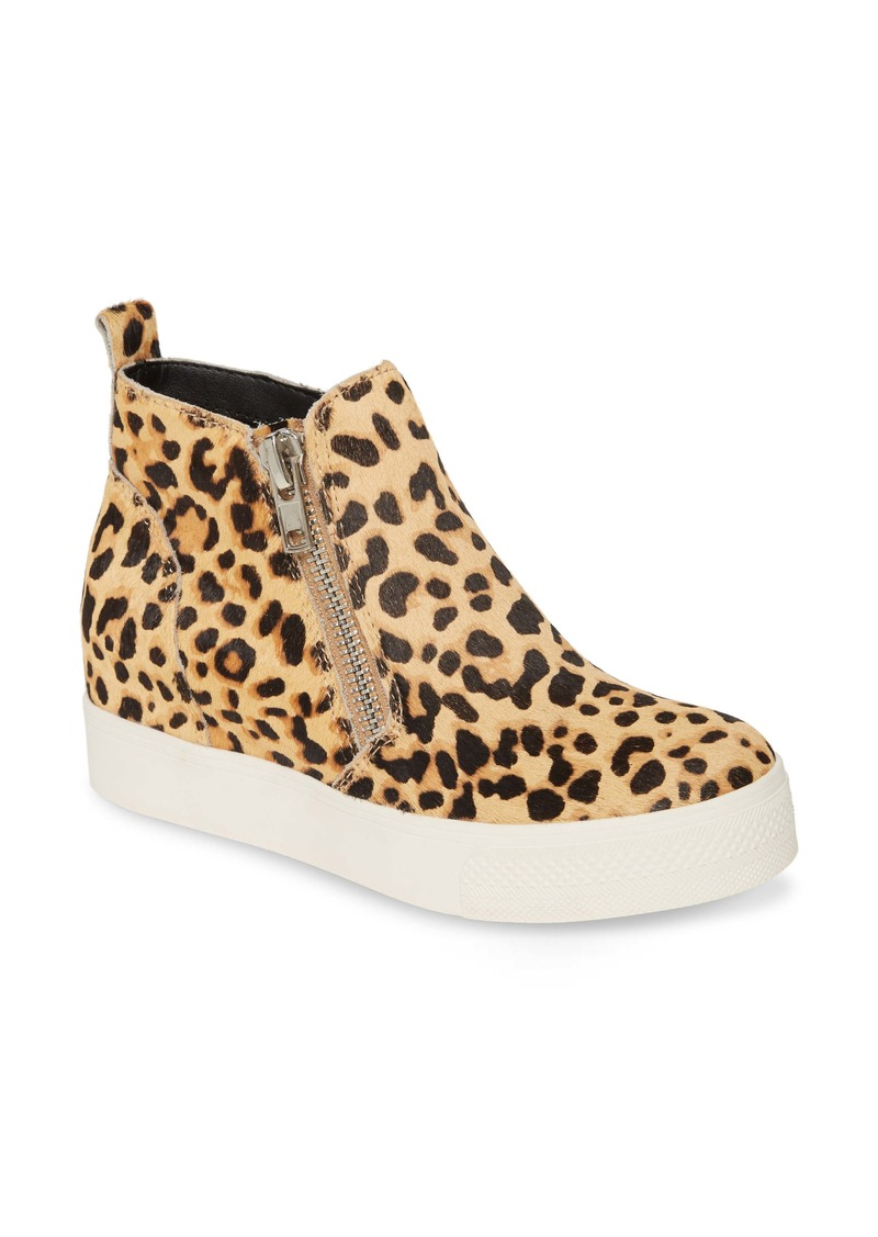 Steve Madden Wedgie High Top Genuine Calf Hair Platform Sneaker (Women)