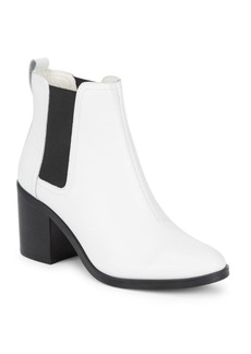 Steve Madden Westin Stack Heel Leather Ankle Boots