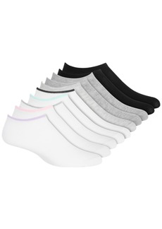 Steve Madden Women's 10-Pack Solid Low Cut Socks, Online Only