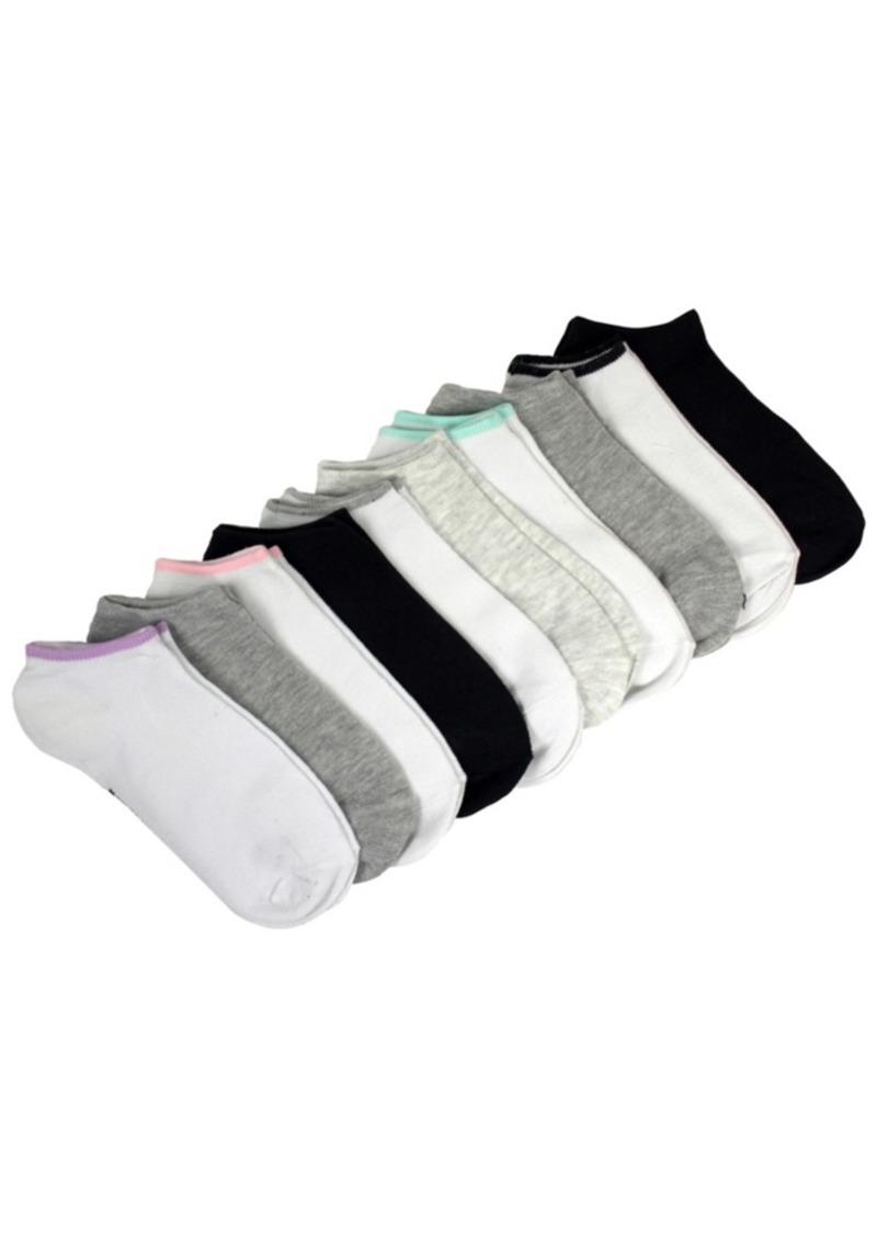Steve Madden Women's 10 Pack Solid Low Cut Socks, Online Only