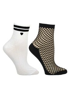 Steve Madden Women's 2-Pack Ankle Socks, Online Only