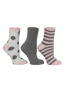 Steve Madden Women's 3 Pack Dot and Stripe Cozy Socks, Online Only