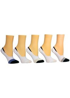 Steve Madden Women's 5-Pk. Colorblocked Foot Liner Socks