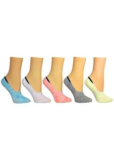 Steve Madden Women's 5-Pk. Random Feed Yarn Foot Liner Socks