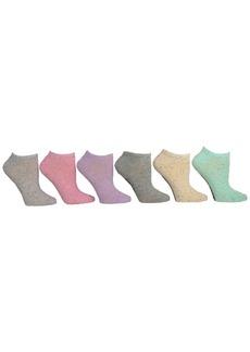 Steve Madden Women's 6-Pk. Speckled Yarn Low-Cut Socks