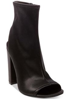 Steve Madden Women's Alta Peep-Toe Block-Heel Booties