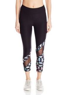 Steve Madden Women's Asymetrical Inset Crop Legging  M