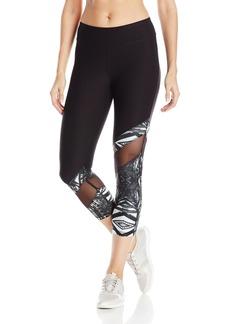 Steve Madden Women's Asymetrical Inset Crop Legging  XS