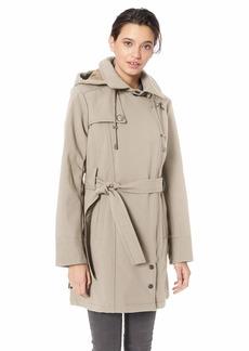 Steve Madden Women's Asymmetrical Softshell Jacket  L