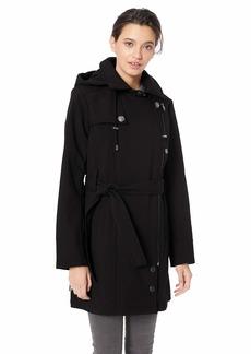 Steve Madden Women's Asymmetrical Zip Softshell Jacket Black L