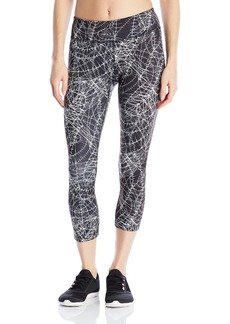 Steve Madden Women's Barbwire Print Tulip Back Shirred Crop Tight