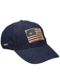 Steve Madden Women's  Baseball Cap W Faded American Flag