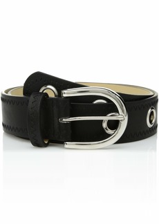 Steve Madden Women's Belt with Grommets black LARGE
