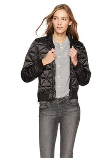 Steve Madden Women's Bomber Jacket Packable Black 717H L