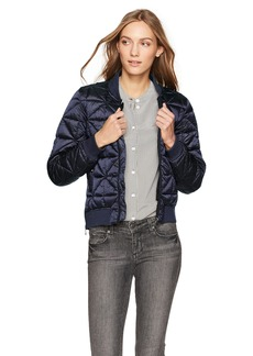 Steve Madden Women's Bomber Jacket Packable Indigo 717H M