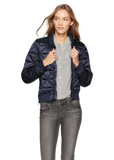 Steve Madden Women's Bomber Jacket Packable Indigo 717H XL