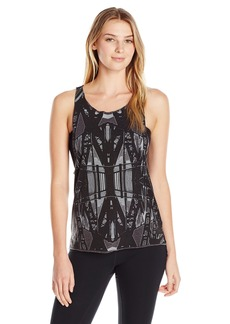 Steve Madden Women's Bridge Print Relaxed Drop Armhole Muscle Tee  S