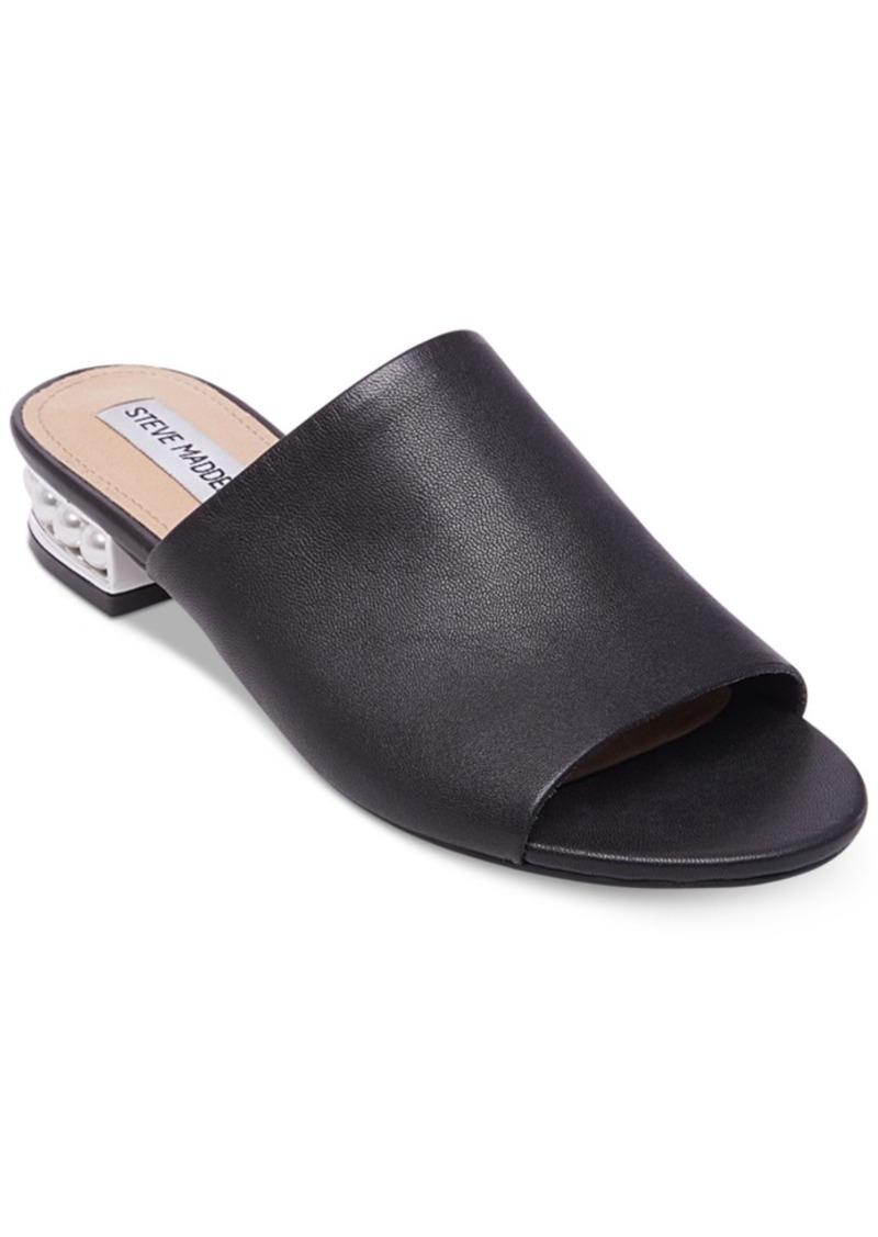 23062f9b530 SALE! Steve Madden Steve Madden Women s Brielle Pearl Heel Slides