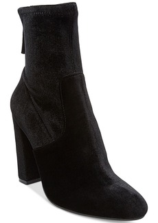 Steve Madden Women's Brisk Block-Heel Sock Booties Women's Shoes