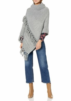 Steve Madden Women's Cable Knit Poncho