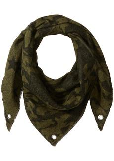Steve Madden Women's Camo Stars Triangle Blanket Wrap Scarf army green