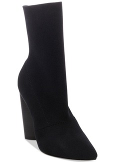 Steve Madden Women's Capitol Pointed Block-Heel Booties Women's Shoes