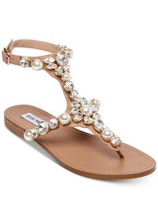 Steve Madden Women's Chantel Embellished Flat Sandals