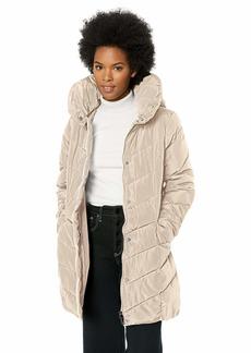 Steve Madden Women's Chevron Quilted Puffer Jacket  M