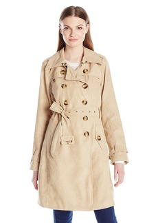 Steve Madden Women's Classic Trench Coat Nude IAFKB