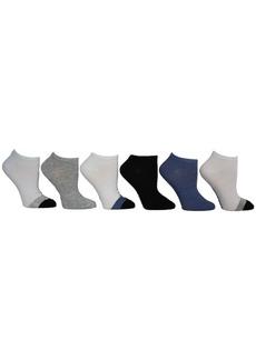 Steve Madden Women's Colorblock Low Cut Socks, Pack of 6
