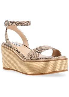 Steve Madden Women's Composed Raffia Wedge Sandals