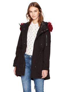 Steve Madden Women's Cotton Anorak Jacket  L
