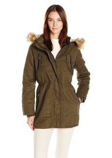 Steve Madden Women's Cotton Anorak With Zip Pockets  S