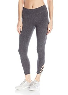Steve Madden Women's Criss Cross Ankle Detail Crop Legging