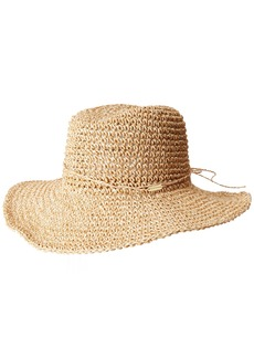 Steve Madden Women's Crochet Cowbody Hat with Ties