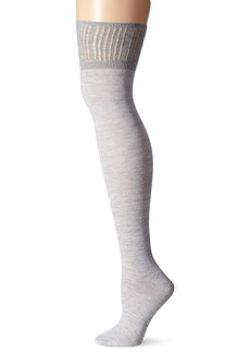 Steve Madden Women's Crochet Cuff Marl Over the Knee Sock