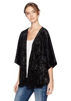 Steve Madden Women's Crushed Velvet Dolman Sleeve Topper