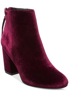 Steve Madden Women's Cynthia Velvet Block-Heel Booties Women's Shoes