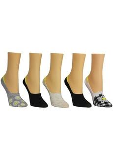 Steve Madden Women's Daisy Foot Liner Socks, Pack of 5