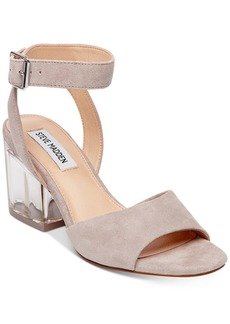 Steve Madden Women's Debbie Lucite-Heel Dress Sandals