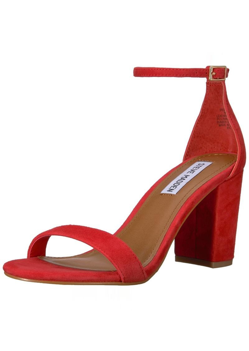 Steve Madden Women's DECLAIR Heeled Sandal red Suede  M US