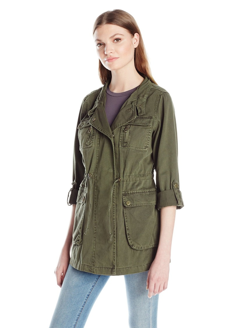 Steve Madden Women's Denim/Cotton Anorak