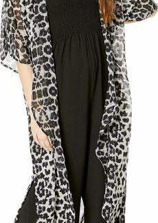 Steve Madden Women's Desert Duster Kimono with Side Slits & Pocket