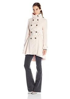 Steve Madden Women's Double Breasted Wool Trench Coat with Belt