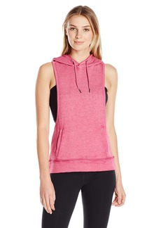 Steve Madden Women's Dropped Armhole Hoodie with Back Cutouts  M