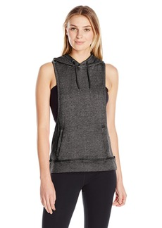 Steve Madden Women's Dropped Armhole Hoodie with Back Cutouts  XS